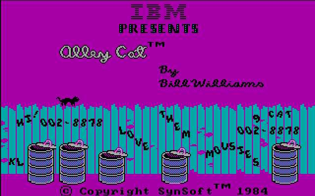 CGA game: Alley cat
