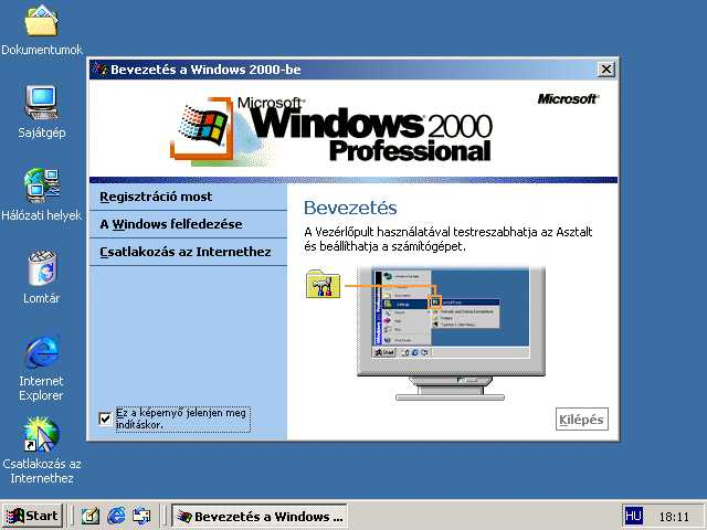 Win 2000 welcome